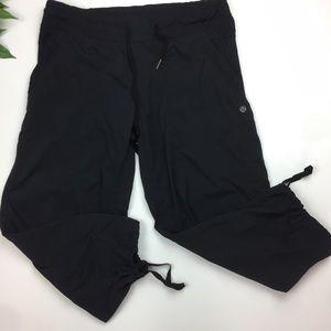 Lululemon Black drawstring Capri jogger pants